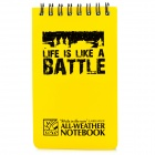 MAXGEAR Outdoor Water Resistant Resin Notepad / Notebook - Yellow + Black (50-Sheet)