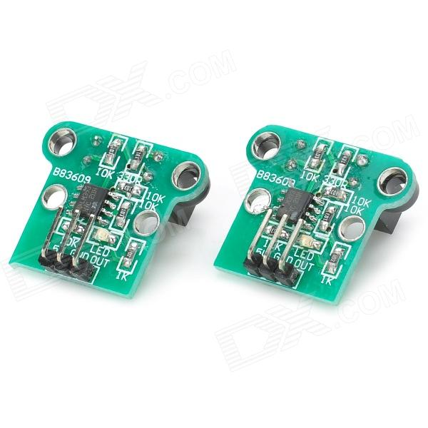 Double Speed Measuring Module w/ Photoelectric Encoders - Black + Green (2 PCS)