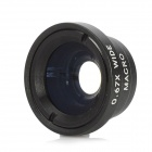 Universal Wide-Angle/0.67X Macro Lens Attachment for Cell Phones - Black + Silver White