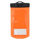WP-160 General Waterproof Bag w/ Armband / Strap for Samsung i9500 / i9300 - Orange + Blac
