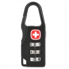 Portable 3-Digital Combination Lock for Backpack / Luggage Carrier / Case - Black + Silver