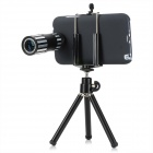 12X Telephoto Lens for Samsung Galaxy Note 2 N7100 w/ Tripod Case- Black + Silver