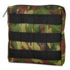 Multi-Functional Outdoor Bag w/ Zipper - Camouflage Green (0.9L)