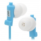 Concise 3.5mm Jack In-ear Stereo Earphone - Blue + White