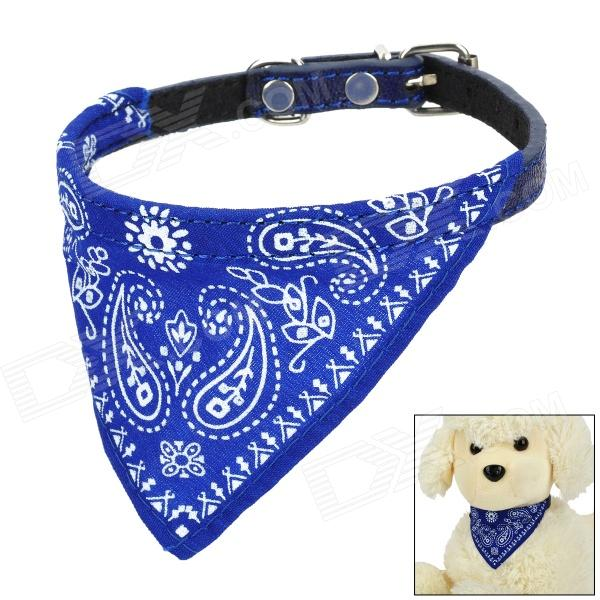 Adjustable Cute Pet Neckerchief Scarf for Dog - Blue + White (Size-M)