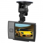 "S3000A 3.5"" TFT CMOS Wide Angle 3.0 MP + 1.3 MP Dual-Camera Car DVR w/ AV-Out / TF - Black"