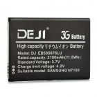 DEJI DJ-EB595675LU Replacement 3100mAh Li-ion Battery for Samsung Galaxy Note II / N7100 - Black