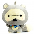 Cute Racoon Style Plush Doll Toy - Grey + Beige