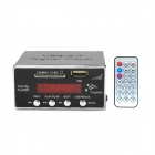1006 Digital Car MP3 Player w/ FM / USB / SD Slot / 3.5mm Jack + Remote Control - Black + Silver