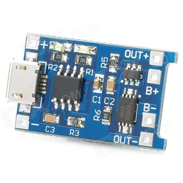 MP1405 5V 1A Lithium Battery Charging Board - Blue + Black