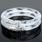 Acrylic LED Flashing Bracelet - Transparent White (2 PCS)