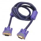 MILLIONWELL 01.0030 24K Gold-Plated VGA 3+6 Male to Male Connection Cable for Monitor / Projector