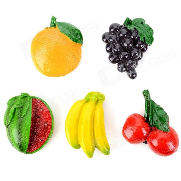 Funi CT-6681 5-in-1 Fruit Shape Magnet Stickers - Multi-color