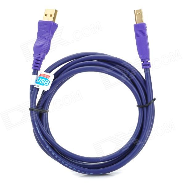 MILLIONWELL 01.0018 USB A-Type Male to USB B-Type Male Connection Cable for Printer - Purple (1.8m) usb 2 0 printer scanner connection flat cable blue 145cm