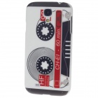 iTOP Cassette Plastic Protective Case w/ Screen Protector for Samsung S4 - Black + White + Red
