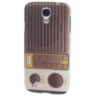iTOP Radio Style Plastic Back Case w/ Screen Protector for Samsung S4 i9500 - Brown + White + Yellow