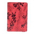 Rose Pattern PU Leather Smart Case w/ Swivel Stand for Ipad MINI - Red