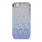 Protective Crystal Decorated PVC Back Case for Iphone 5 - Blue+ Silver