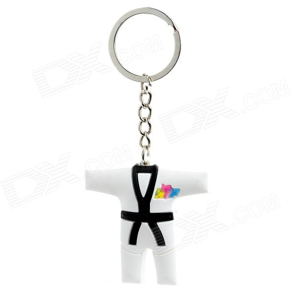 Taekwondo Uniform Pattern Kyechain - White + Black