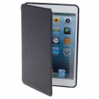 Detachable PU Leather + Silicone Samrt Case w/ Stand for iPad Mini - Black