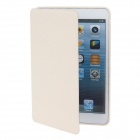 Detachable PU Leather + Silicone Smart Case w/ Stand for Ipad MINI - White