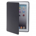 Detachable PU Leather + Silicone Smart Case w/ Stand for Ipad 2 / 3 / 4 - Black