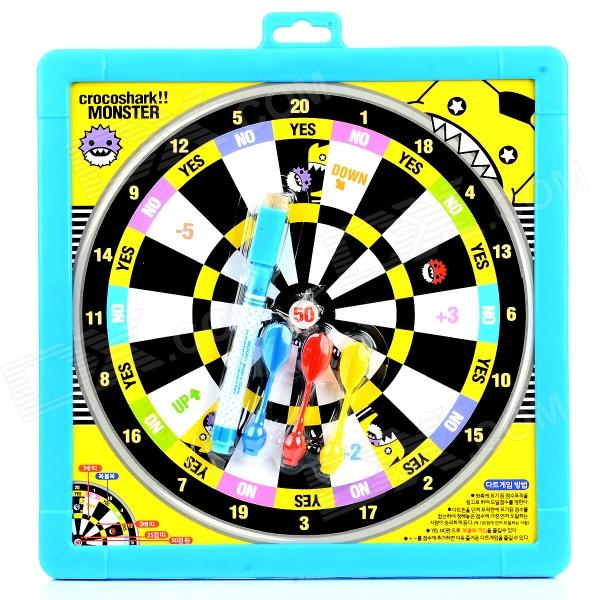 Dart Board + White Writing Tablet w/ 2-Dart + Pen - Multicolor