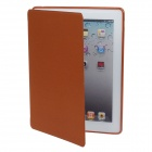 Detachable PU Leather + Silicone Smart Case w/ Stand for Ipad 2 / 3 / 4 - Brown