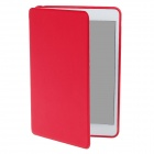 Detachable PU Leather + Silicone Smart Case w/ Stand for Ipad MINI - Red