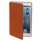 Detachable PU Leather + Silicone Smart Case w/ Stand for Ipad MINI - Brown