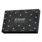 MILLIONWELL 01.0439 USB 2.0 7-Port Hub - Black