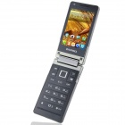 "BEDOVE X5 Android 4.0.4 GSM Flip Phone w / 3,2 ""Dual Screen, Double - bande et Wi-Fi - Noir + Gris"