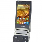 "BEDOVE X5 Android 4.0.4 GSM Flip Phone w/ 3.2"" Dual Screen, Dual - Band and Wi-Fi - Black + Grey"