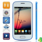 "7562 Android 4.1.1 GSM Bar Phone w/ 4.0"" Capacitive Screen, Quad-Band and Wi-Fi - White + Blue"