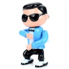 Gangnam Style Electronic Wind Up Singing and Dancing Doll Toy - Black + Blue + Nude