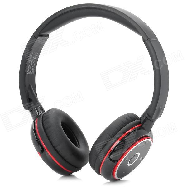 SUICEN AX-649 Bluetooth v2.1 + EDR Headphone w/ Microphone for Ipad + More - Black + Red + Silver universal bluetooth v3 0 edr stereo in ear headphone w microphone for iphone ipad cable 78cm