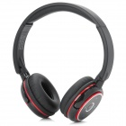 SUICEN AX-649 Bluetooth v2.1 + EDR Headphone w/ Microphone for Ipad + More - Black + Red + Silver