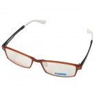 MINGDUN 2320 Ultra-Lightweight Elastic Tungsten Titanium Frame Eyeglasses - Coffee + Black + White