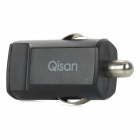 Qisan C100 USB Car Cigarette Lighter Power Adapter - Black (12V)