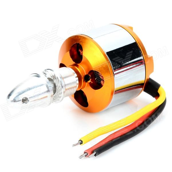 A2212/13T 1000KV Outrunner Brushless Motor Set - Yellow-Gold + Silver