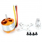 A2212 / 13T 1000KV outrunner brushless motor conjunto - amarelo-ouro + prata