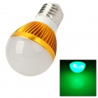 ZDM E27 3W 80lm 3-LED Green Light Bulb (90~260V)