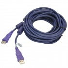 Millionwell 01.0013 USB Male to Female Extender Data Cable - Purple (7.6m)