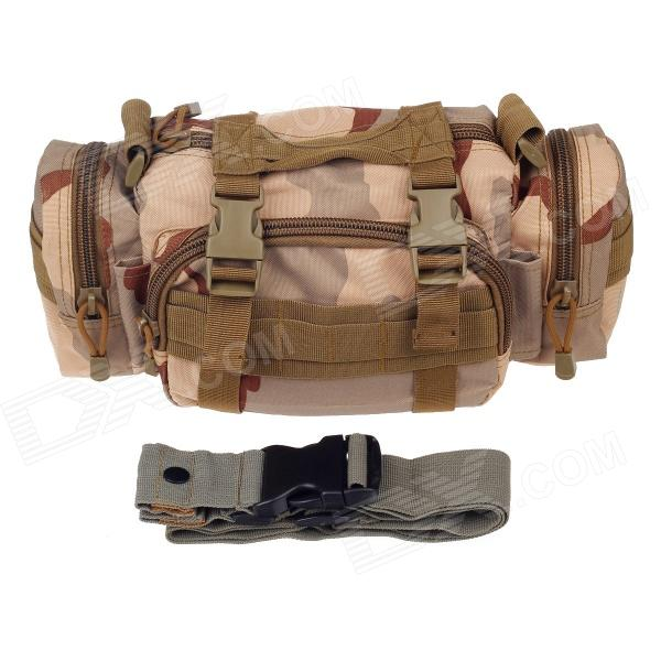 Cool Style Oxford Cloth SLR Camera Shoulder Bag - Desert Camo Camouflage or fabric camouflage leaf headgear