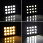 Universal 10W 800LM 5600 / 3200K 12-LED Video Light for Camera - Black