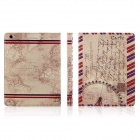 ENKAY Map Pattern Protective PU Leather Case for Ipad 2 / 4 / the New Ipad - Light Brown
