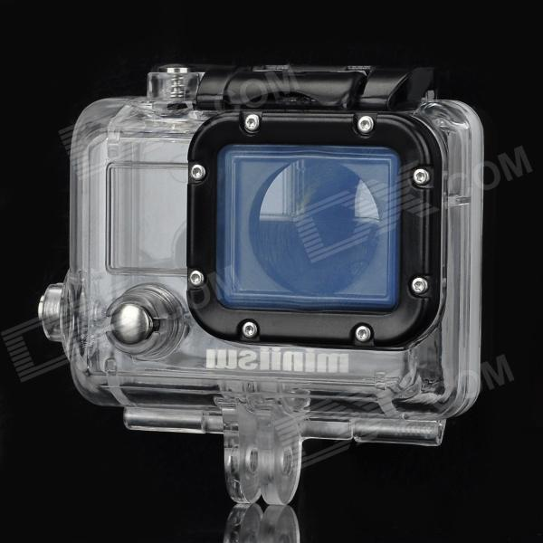 Miniisw C-3AL 45m Waterproof Underwater Full Diving Case w/ Glass Lens for Gopro Hero3 / 3+