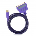 MILLONWELL 01.0264 USB1.1 to Parallel Cable for DB25 Printer + More - Purple (1.8m)