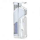 FS260 Zinc Alloy Windproof Blue Flame Butane Jet Lighter w/ Bottle Opener -  Silver