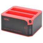 UNITEK Y-3022 tragbare USB3.0 TO Dual-HDD Docking Station - Schwarz + Rot